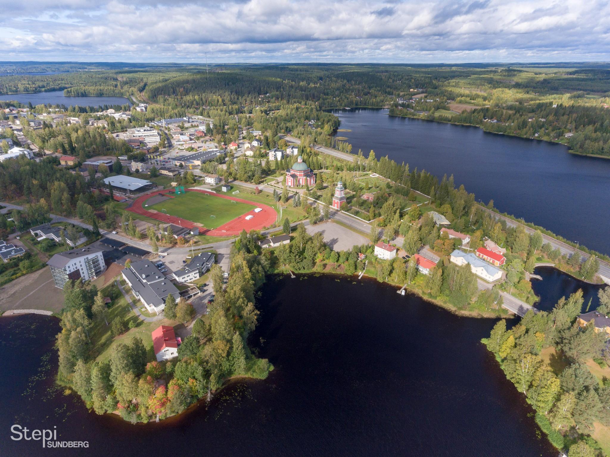 Ilmakuva Saarijärvi, Valokuvaaja Stepi Sundberg