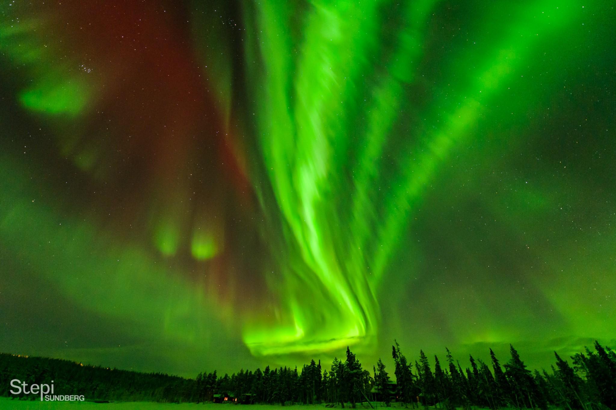Luontokuva revontuli, Valokuvaaja Stepi Sundberg